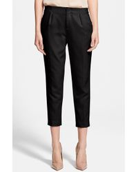 Haute Hippie Front Pleat Capri Pants - Lyst