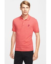 Versace Medusa Patch Polo - Lyst