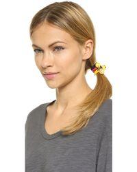 Venessa Arizaga - Emoji Hair Tie Set - Red/black/yellow - Lyst