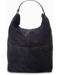 Mango Leather Hobo Bag - Lyst