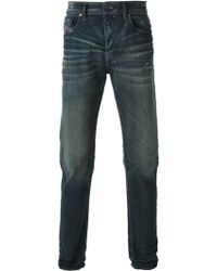 Diesel Distressed Slim Fit Jeans - Lyst