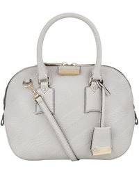 Burberry Small Orchard Check Bowling Bag - Lyst