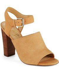 Ivanka Trump Omari High-Heel Leather Sandals - Lyst