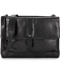 Kenneth Cole Reaction Leather Strap Detailed Messenger Bag - Lyst