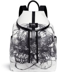 Alexander McQueen | 'multi Skull' Sketch Print Canvas Backpack | Lyst
