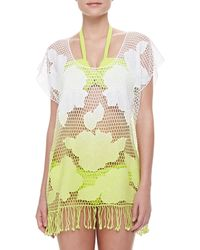 Seafolly Copacabana Net Coverup Neon Splice - Lyst