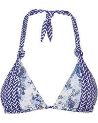 Linea Weekend - Porcelain Print Triangle Bikini Top - Lyst
