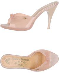 Vivienne Westwood Anglomania Sandals beige - Lyst