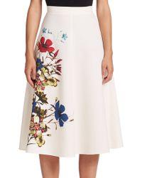 Erdem   Maury Floral Crepe Skirt   Lyst
