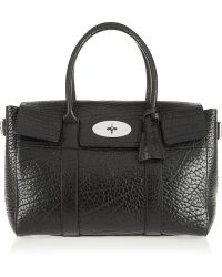 Mulberry The Bayswater Buckle Textured-leather Tote - Lyst