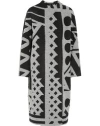 Burberry Prorsum Wool and Cashmere Blend Blanket Coat - Lyst