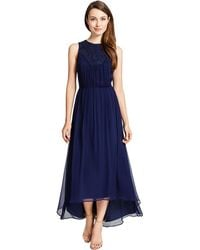 Cynthia Steffe Crinkled Chiffon Maxi Dress - Lyst