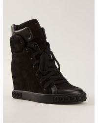 Casadei Wedge Sneakers - Lyst
