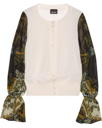 Just Cavalli Fine Knit Wool Cardigan - Lyst