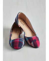 East Lion Corp/Qupid | Tip Tap Toe Flat In Plaid | Lyst