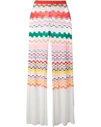 Missoni Zig Zag Pattern Fine Knit Trousers - Lyst