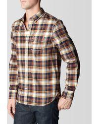 True Religion Big T Single Pocket Plaid Mens Flannel Shirt - Lyst
