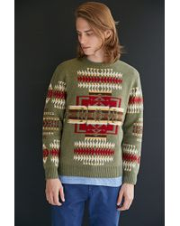 Pendleton Joseph Pattern Crew Neck Sweater - Lyst