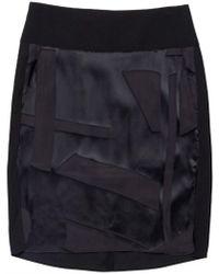 Helmut Lang Hexa Burnout Skirt black - Lyst