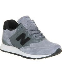 New Balance 576 Suede And Leather Trainers - For Women - Lyst
