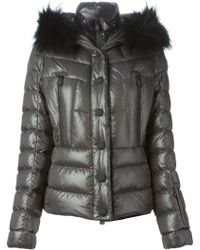 Moncler Grenoble Fur Trim Padded Jacket - Lyst