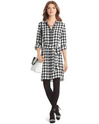 Diane von Furstenberg Prita Silk Shirt Dress - Lyst