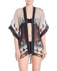 Theodora & Callum - Open Front Kimono Cover-up - Lyst