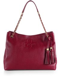Tory Burch Thea Chain Slouchy Shoulder Tote - Lyst