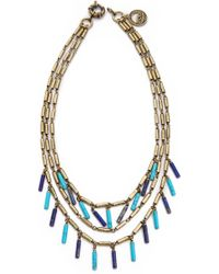 Giles & Brother - Stone Fringe Multi Chain Necklace - Lyst