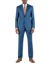 Alexandre Savile Row Sharkskin Regular Fit Single Breasted Suit - Lyst