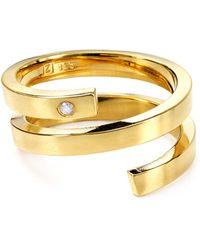 Jennifer Zeuner Celine Wrap Around Ring gold - Lyst