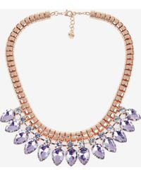 Ted Baker - Tear Drop Crystal Necklace - Lyst
