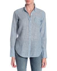 Nili Lotan Blue Collared Shirt - Lyst