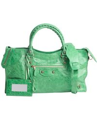 Balenciaga Vert Poker Green Leather Large Giant Work Bag - Lyst