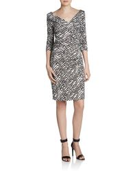 Diane Von Furstenberg Bentley Ruched Silk Jersey Dress - Lyst