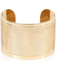 River Island Gold Tone Snake Etched Cuff Bracelet gold - Lyst