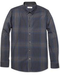 Calvin Klein Roadmap Plaid Checked Slim-fit Shirt - Lyst