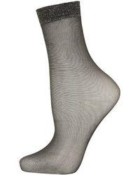 Topshop Lurex Welt Pop Socks - Lyst