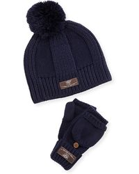 UGG - Mclain Ribbed-knit Beanie & Flip Mittens - Lyst