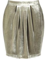 Jigsaw - Silk Velvet Pleat Skirt - Lyst