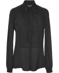 Elie Saab Silk Georgette and Lace Shirt - Lyst
