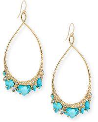 Alexis Bittar Turquoise Howlite Teardrop Earrings - Lyst