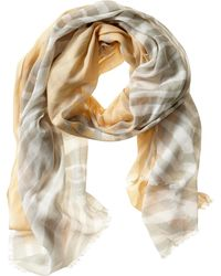 Banana Republic Laura Scarf Sidewalk Grey Combo - Lyst