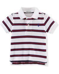 Ralph Lauren Striped Cotton Polo Shirt - Lyst