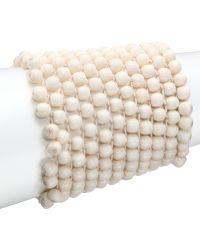 Josie Natori - Beaded Stretch Bracelet - Lyst