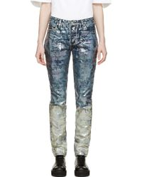 Hood By Air Blue Iridescent Oil Spill Jeans - Lyst
