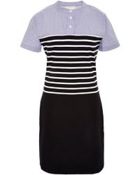 Band of Outsiders Short-Sleeve Striped Shirtdress - Lyst