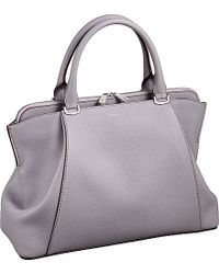 Cartier C De Leather Small Tote - For Women, Palevioletred gray - Lyst