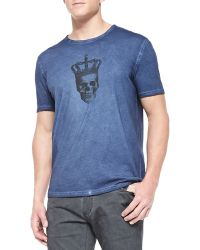 John Varvatos Short-sleeve Tee W Crowned Skull - Lyst