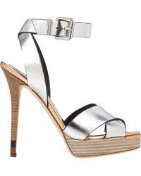 Fendi Claire Ankle-Strap Platform Sandals - Lyst